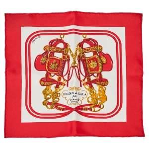 Hermes Red Brides de Gala Nano Scarf