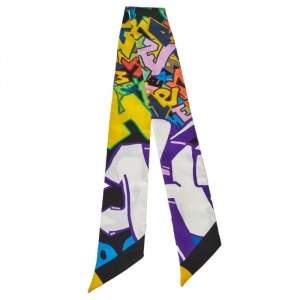 Hermès Multicolor Graff Silk Twilly