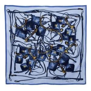 Hermès Blue Brides Rebelles Silk Scarf