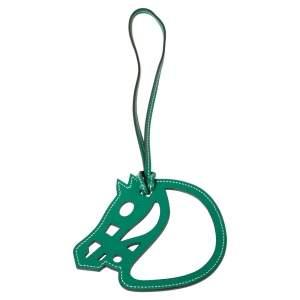 دلاية حقيبة هيرمس حصان شيفال قفل جلد خضراء