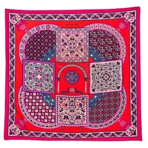 Hermes Multicolor Ciels Byzantins Printed Silk Square Scarf
