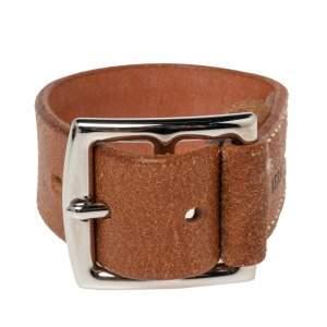 Hermes Brown Leather Etriviere Wrap Bracelet