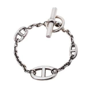 Hermès Sterling Silver Farandole Toggle Bracelet