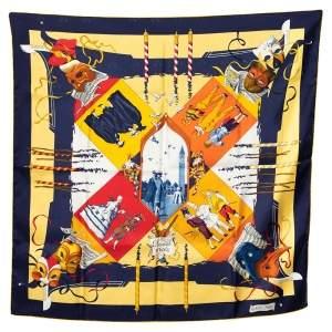 Hermes Multicolor Le Carnaval De Venise Printed Silk Square Scarf