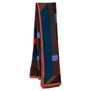 Hermes  Multicolored Perspective Cavaliere Cashmere & Silk Scarf