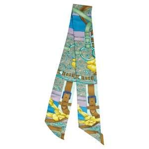 Hermès Multicolor Grand Manege Fleuri Silk Twilly