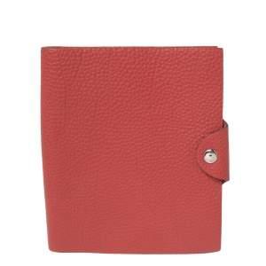 Hermes Red Togo Leather Ulysse PM Agenda Cover