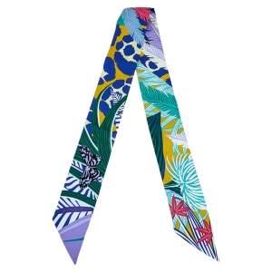 Hermès Multicolor Jaguar Quetzal Silk Twilly