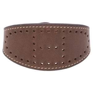 Hermès Brown Leather Evelyne Bracelet S