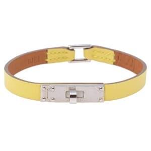 Hermès Yellow Leather Micro Kelly Bracelet L