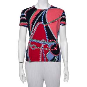 Hermes Multicolor Printed Cotton Short Sleeve T-Shirt M