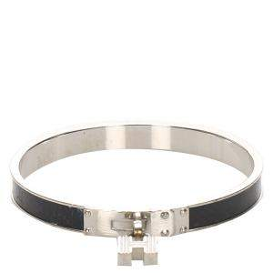 Hermes Silver Kelly H Lock Cadena Bracelet