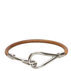 Hermes Leather/Metal Jumbo Hook Double Tour Bracelet