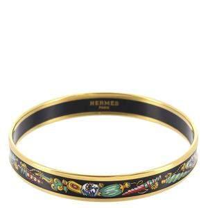 Hermes Multicolor Metal Cloisonne Bangle