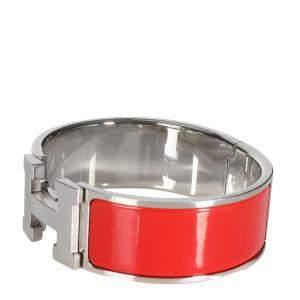 Hermes Red Enamel Clic Clac H Bracelet