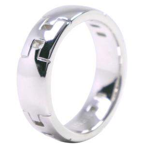 Hermes 18k White Gold Hercules Ring Size 50.5