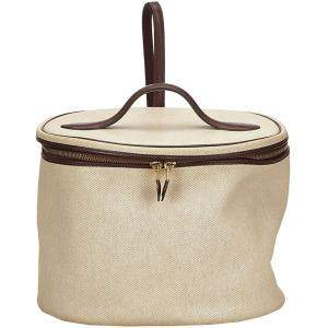 Hermes Beige Canvas Intercity Vanity Bag