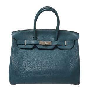 Hermes Colvert Togo Leather Palladium Hardware Birkin 35 Bag