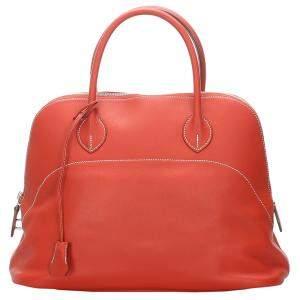 حقيبة هيرمس بويلد 35 جلد برتقالية