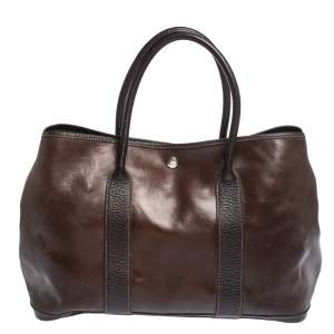 Hermes Havane Amazonia Buffalo Leather Garden Party 36 Bag