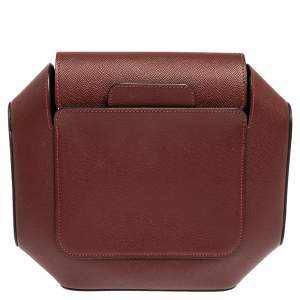 Hermes Rouge H Epsom Leather Octogone Clutch