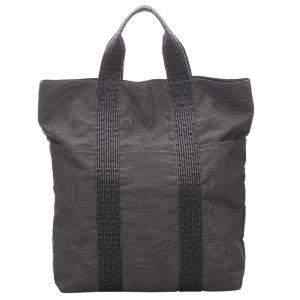 """حقيبة يد هيرمس """"فور توت كاباس"""" كانفاس بني و أسود"""