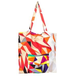 Hermes Multicolor Silk Petit H Shopping Bag