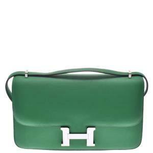 """حقيبة كتف هيرمس """"كونستانس إيلان"""" جلد أخضر"""