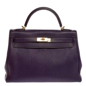 Hermes Iris Togo Leather Kelly Retourne 32 Bag
