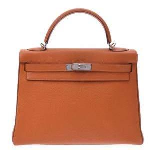 Hermes Gold Togo Leather Gold Hardware Kelly 32 Bag