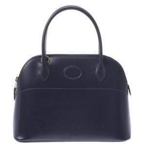 Hermes Navy Blue Epsom Leather Bolide 27 Bag