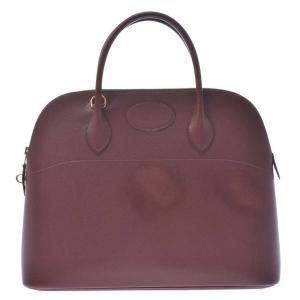 Hermes Brown Courchevel Bolide 35 Bag