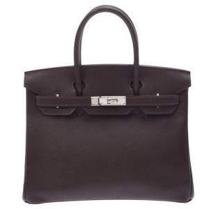 Hermes Brown Epsom Leather Birkin 30 Bag