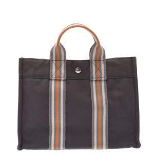 Hermes Grey Canvas Fourre Tout MM Bag
