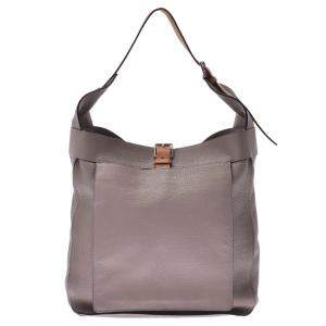 Hermes Grey Clemence Leather Marwali Bag