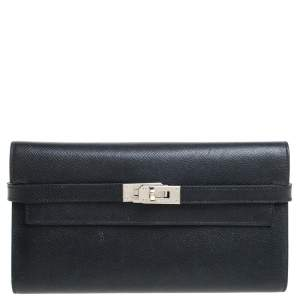 Hermes Black Epsom Leather Kelly Wallet