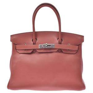 Hermes Orange Swift Leather Birkin 30 Bag