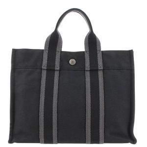 Hermes Black Canvas Fourre Tout PM Bag