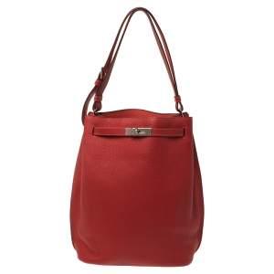 حقيبة هيرمس سو كيلي جلد توغو إكسسوار بلاديوم جايبور وردية/ حمراء كاساك