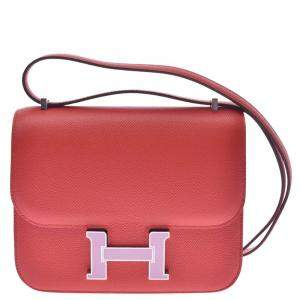Hermes Red Leather Constance mini Bag