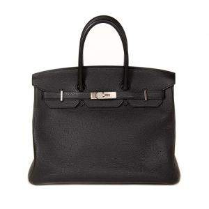 Hermès Black Togo Leather Palladium Hardware Birkin 35 Bag