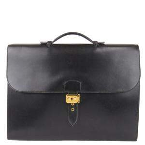 Hermes Black Leather  Sac a Depeches 41 Briefcases