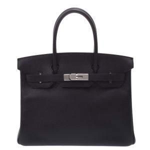 Hermes Black Epsom Leather Birkin 30 bag