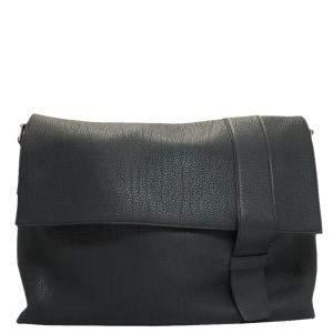 Hermes Black Togo Leather Sac Alfred 35 Bag