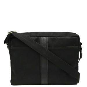 Hermes Black Nylon and Leather Acapulco Bassus MM Bag