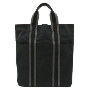 Hermes Grey Canvas Fourre tout Cabas Tote Bag