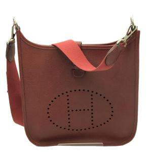 Hermes Brown Leather Evelyn PM Bag
