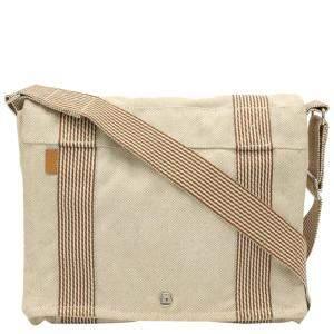 Hermes Beige Toile Canvas Herline Messenger Bag