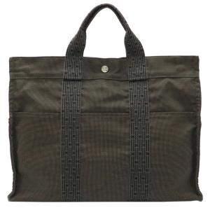 حقيبة يد هيرمس هيرلاين كانفاس خضراء MM