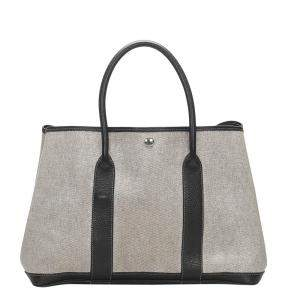 Hermes Grey Leather Garden Party PM Tote Bag